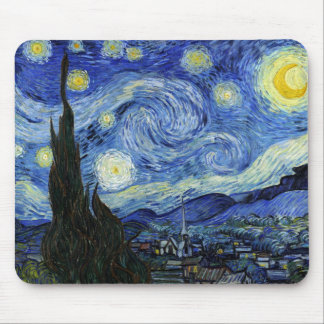 Starry Night by Vincent van Gogh Mouse Pad