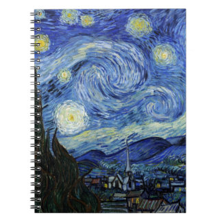 Starry Night by Vincent van Gogh Spiral Notebook