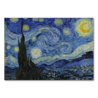 Starry Night by Vincent Van Gogh Table Card
