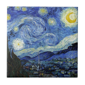 Starry Night by Vincent van Gogh Tile