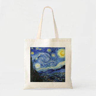 Starry Night by Vincent van Gogh Budget Tote Bag
