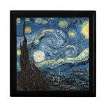 Starry Night by Vincent Van Gogh Trinket Box