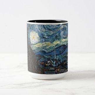 Starry Night by Vincent Van Gogh Two-Tone Mug
