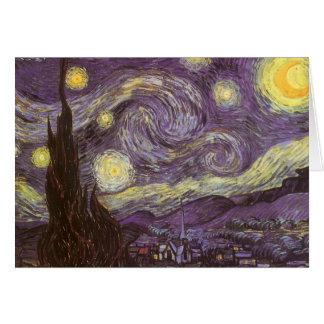 Starry Night by Vincent van Gogh, Vintage Fine Art Greeting Card