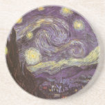 Starry Night by Vincent van Gogh, Vintage Fine Art Coasters