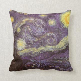 Starry Night by Vincent van Gogh, Vintage Fine Art Cushion