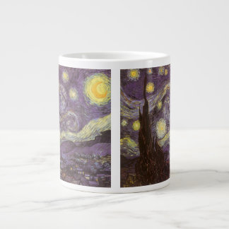 Starry Night by Vincent van Gogh, Vintage Fine Art Giant Coffee Mug