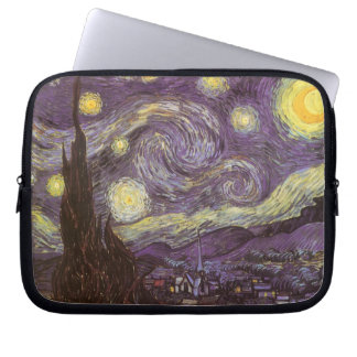 Starry Night by Vincent van Gogh, Vintage Fine Art Laptop Sleeve