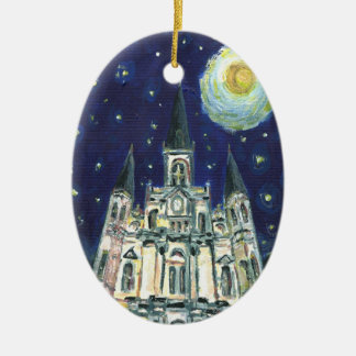 Starry Night Cathedral Christmas Ornament