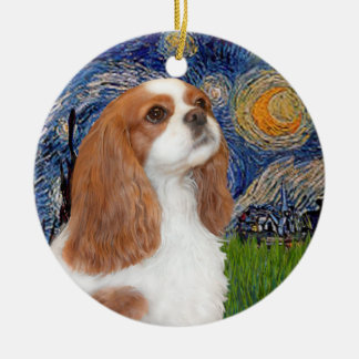 Starry Night - Cavalier (BL1) Round Ceramic Decoration