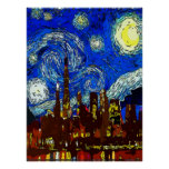 Starry Night Chicago Poster