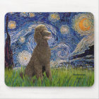 Starry Night - Chocolate St. Poodle Mouse Mat