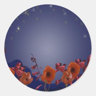 Starry Night Classic Round Sticker