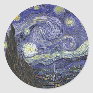 Starry Night Classic Round Sticker