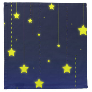 Starry Night Cloth Napkins cocktail