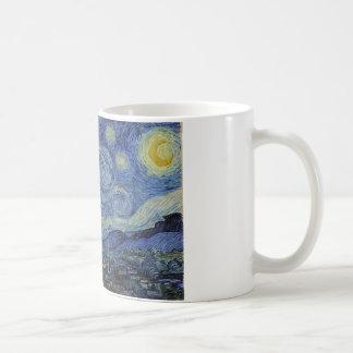 Starry Night Coffee Cup Basic White Mug