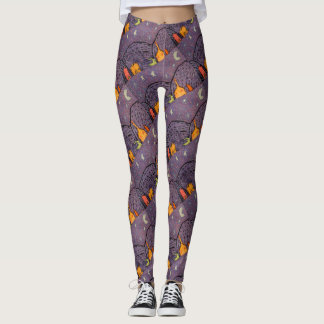 Starry Night Crayon Leggings