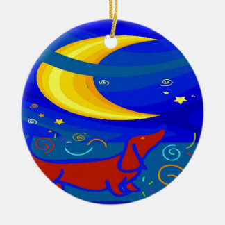 Starry Night Dachshund Christmas Ornament