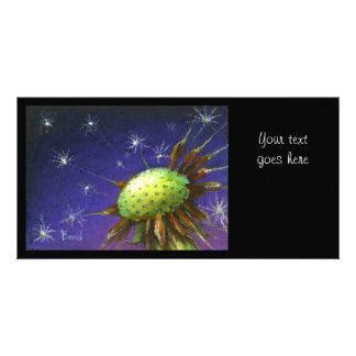 Starry night dandelion picture card