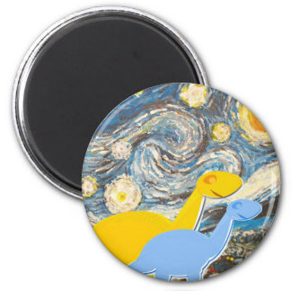 Starry Night Dinosaurs Magnet