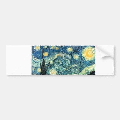 starry night ecig skin bumper sticker