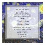 Starry Night, famous fine art wedding 13 Cm X 13 Cm Square Invitation Card