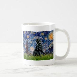 Starry Night - Flat Coated Retriever 2 Basic White Mug