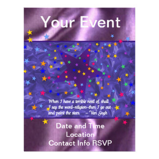 Starry Night Personalized Flyer