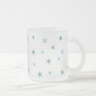 starry night frosted glass mug