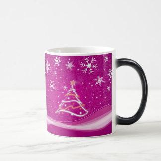 Starry night - fuschia morphing mug
