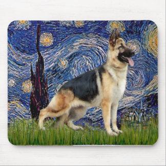 Starry Night - German Shepherd 13 Mouse Mat