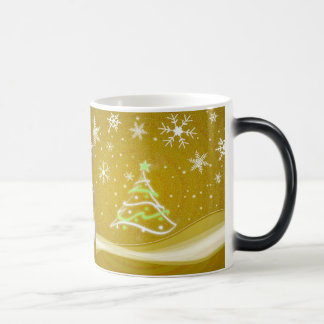 Starry night - gold morphing mug
