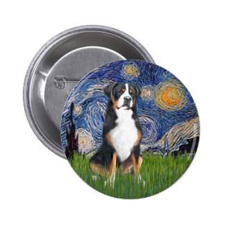 Starry Night-Greater Swiss Mountain Dog 6 Cm Round Badge
