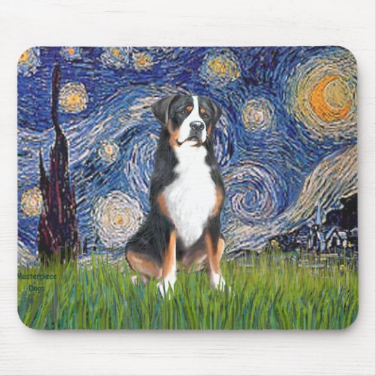 Starry Night-Greater Swiss Mountain Dog Mouse Mat