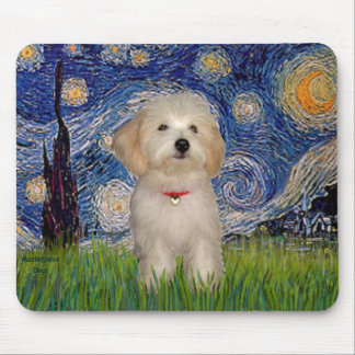 Starry Night - Havanese Puppy Mouse Mat