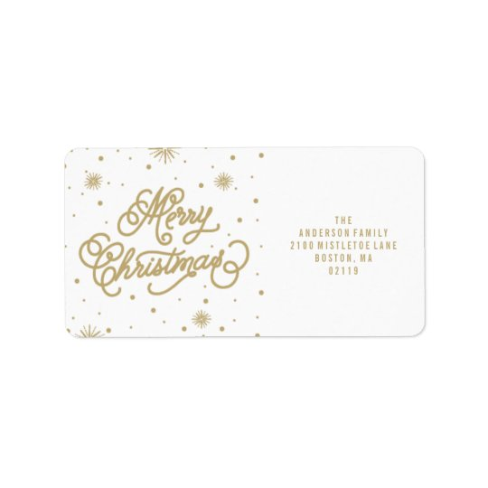 Starry Night | Holiday Address Labels
