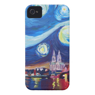 Starry night in Cologne Germany iPhone 4 Cases