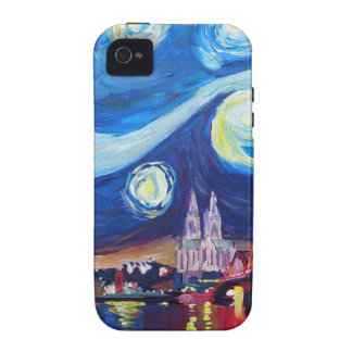 Starry night in Cologne Germany iPhone 4 Covers