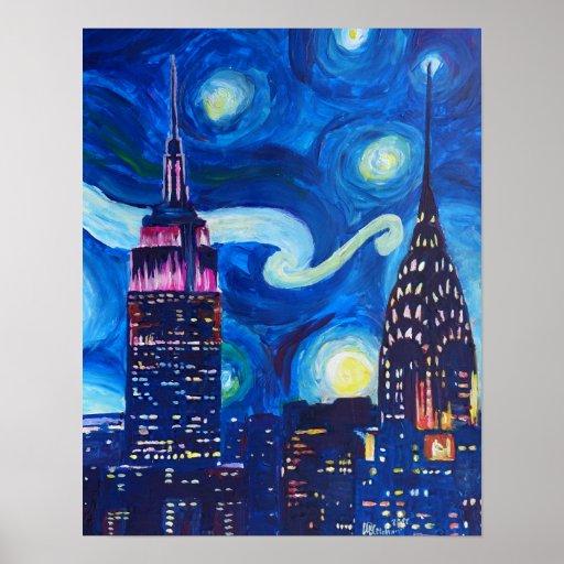 Starry Night in New York - Van Gogh