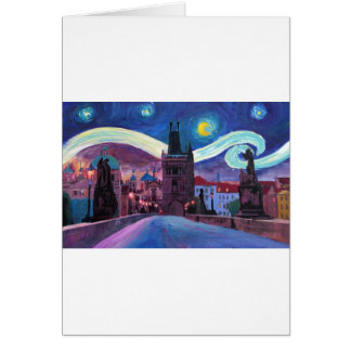 Starry Night in Prague  with Carlsbridge Card