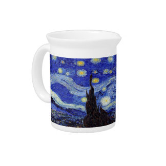 Starry Night  Inspired Van Gogh Classic Pitcher