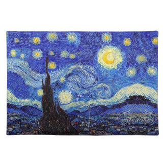 Starry Night  Inspired Van Gogh Classic Products Placemat