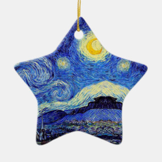 Starry Night  Inspired Van Gogh Ornament