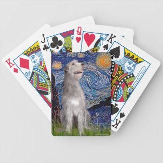 Starry Night - Irish Wolfhound Bicycle Playing Cards