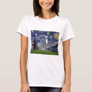 Starry Night-Italian Greyhound 4 (sit) T-Shirt