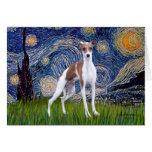 Starry Night - Italian Greyhound 7 Greeting Cards