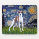 Starry Night - Italian Greyhound 7 Mousepad