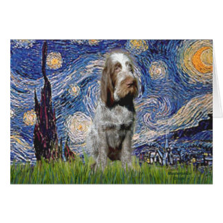 Starry Night - Italian Spinone (roan) Greeting Card