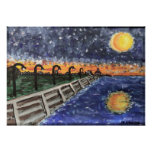 Starry Night Lake Pontchartrain Posters