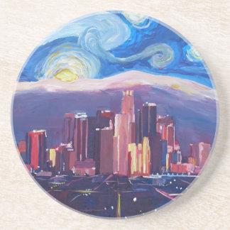 Starry Night Los Angeles California Coaster